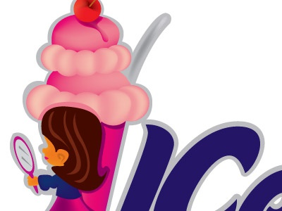 Logo Design Illustration ice cream spa beauty logo
