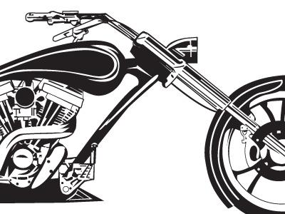 Motorcycle Illustration motorcycle auto illustration vehicle chopper