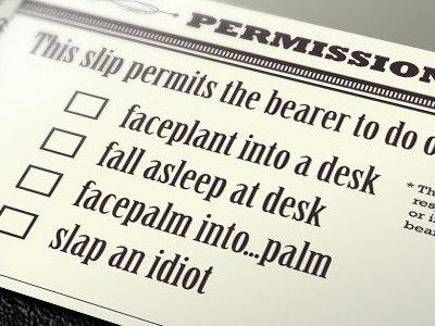 Permission Slip humor geek nerd comedy funny