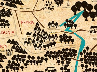 Map of Orinda fantasy map book fiction