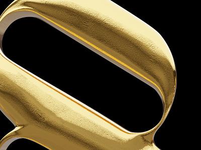 Turning typography into gold foil golden gold design logo vector branding typography 3d blender
