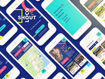 Locoshout App Design android ios colourful codes voucher offers design app locoshout