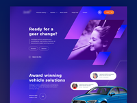 Vehicle leasing homepage concept