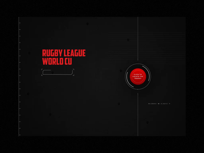 Rugby League World Cup Trophy Tracker landing typography animation design maps google gps scanner tracking dark ui futuristic