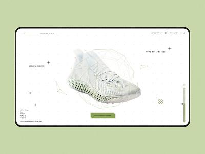 adidas Alphaedge 4D product breakdown education ecommerce retail digital analytics design future futuristic science animation ui adidas