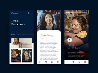 Workplace Communications Hub app branding typography workplace culture hub system internal ui design