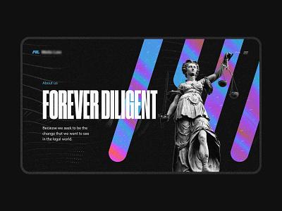 Solicitors / Lawyers Legal website design branding ux colourful ui gradient statue sculpture typography dark design website