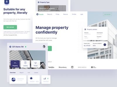 Housle—Property management services (Webflow static page) services software property homepage webflow landing page