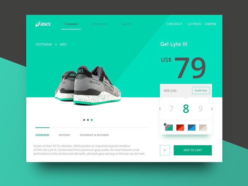 Footwear Mini Site Store - 6th shot cart commerce store shoe flat website footwear