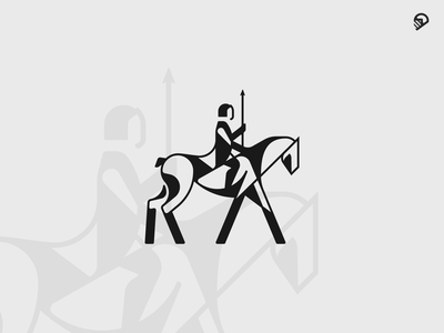 Rider horse vector design animal desert cute playful geometric icon illustration logo
