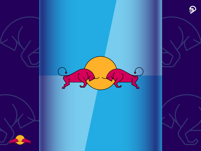 Red Bull redbull blue branding design playful geometric icon illustration logo