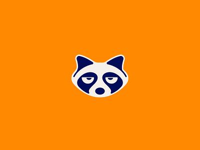 Raccoon animated branding vector design animated animal geometric icon illustration logo
