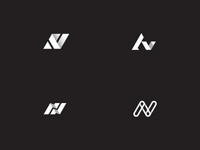 Av typography vector branding design icon geometric logo illustration