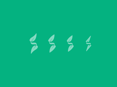 Plogging typography design vector icon branding geometric illustration logo