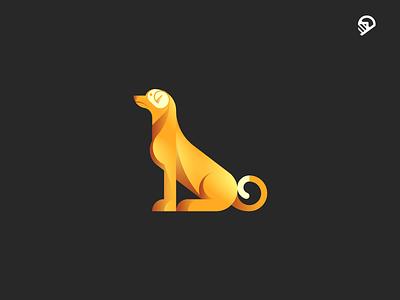 DOG wiener military logo illustration icon guidelines geometric dog dkng dachshund