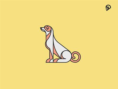 DOG wiener military logo illustration icon guidelines geometric dog