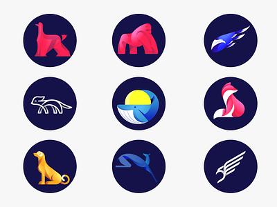animals illustrations icon logo animals illustrations