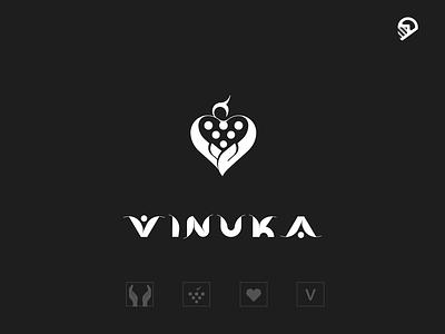 wine character geometric playful illustration icon logo