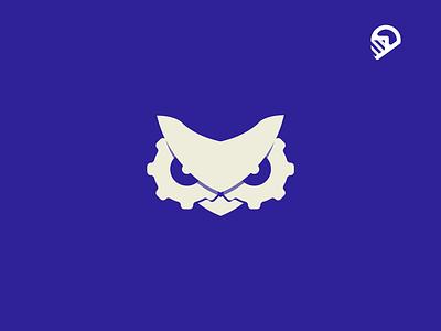Technology blue animal icon geometric illustration logo