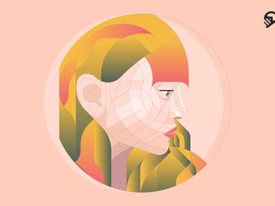 Geometric Girl Portrait