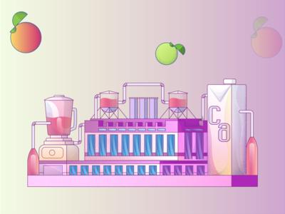 Juice Factory Illustration #2