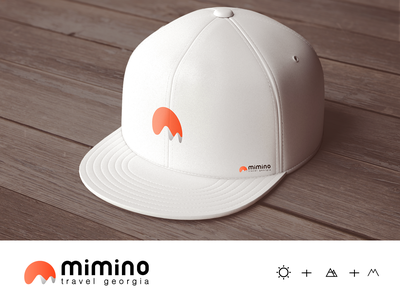 MIMINO trevel in georgia mount mountain typography design vector geometric icon illustration logo trevel