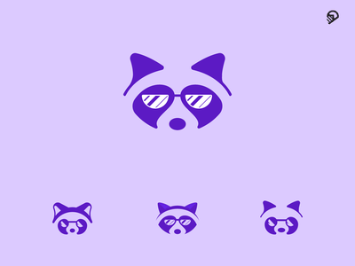 Raccoon vector design animal desert cute playful geometric icon illustration logo