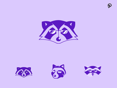Raccoon 2 vector design animal desert cute playful geometric icon illustration logo