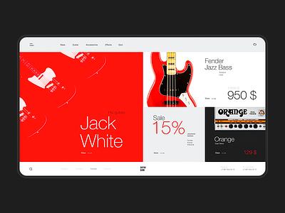 Guitar Bank — design concept web design uiux onlinestore music guitar designconcept red helveticaneue