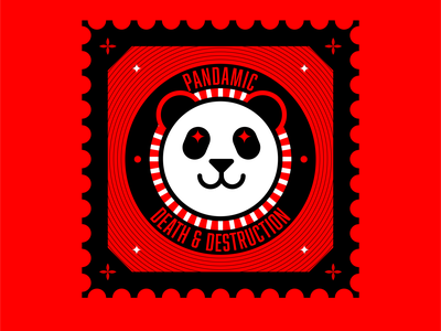 pandamic stamp abstract design illustration