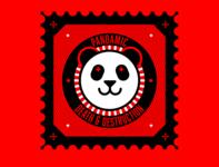 pandamic stamp abstract design illustration