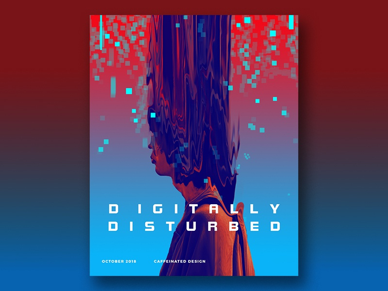 Disturbed typography poster abstract illustration
