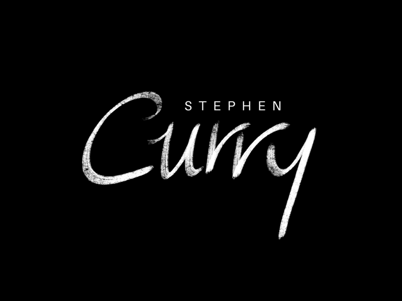 stephen curry calligraphy lettering playoffs nba warriors state golden gsw stephen curry stephen
