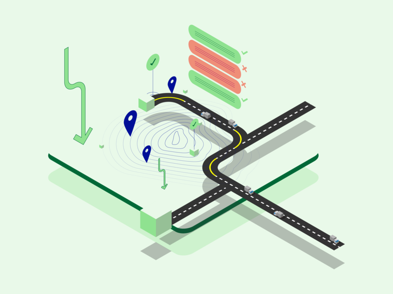 Market Entry Strategy minimal strategy market isometric 3d illustration