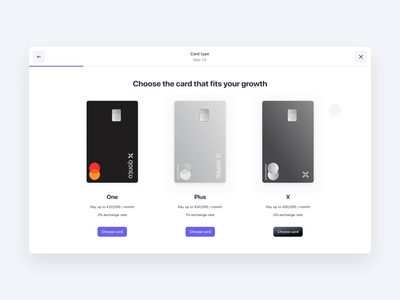 New Cards Creation Flow cards app interaction design flow stepper product design bank animation