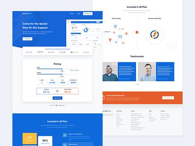 BionicWP - Website Design clean wp wordpress blue website concept layout website design ui ux homepage website
