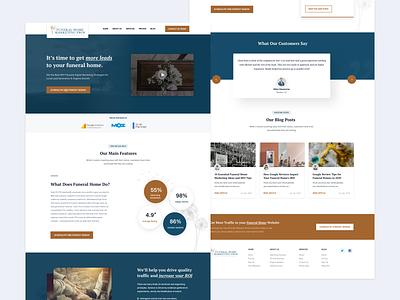 MarketingPros - Landing Page Design funeral marketing web  design design ux ui layout website landing page