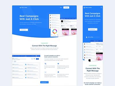 WhoSendsWhat - Website Design web design user interface ux ui light website design blue homepage webpage clean layout website