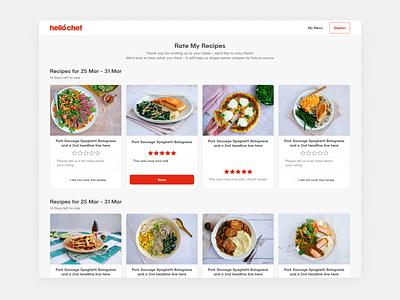 HelloChef - Home Cooking Website Design layout ux ui animation red vibrant website design food web app platform hellochef meal delivery