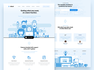 Attractive Blue clean layout ui blue