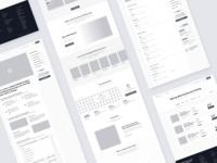 FourPercent - Homepage & Inner Pages Wireframes