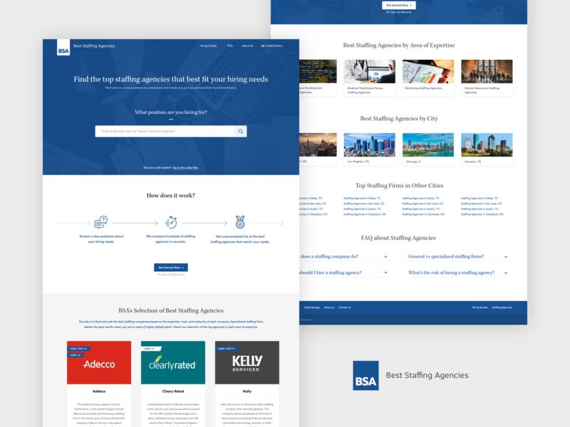 BSA - Website & Questionnaire Overview