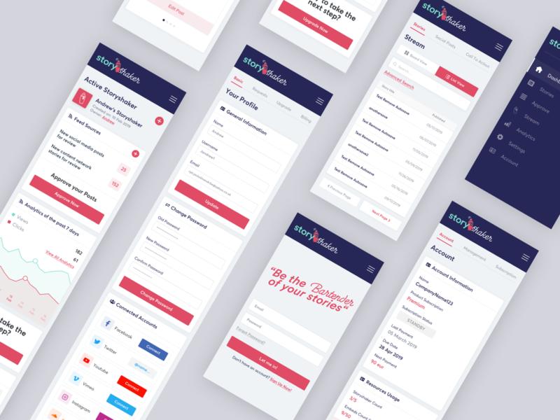 StoryShaker - Responsive Mobile Design