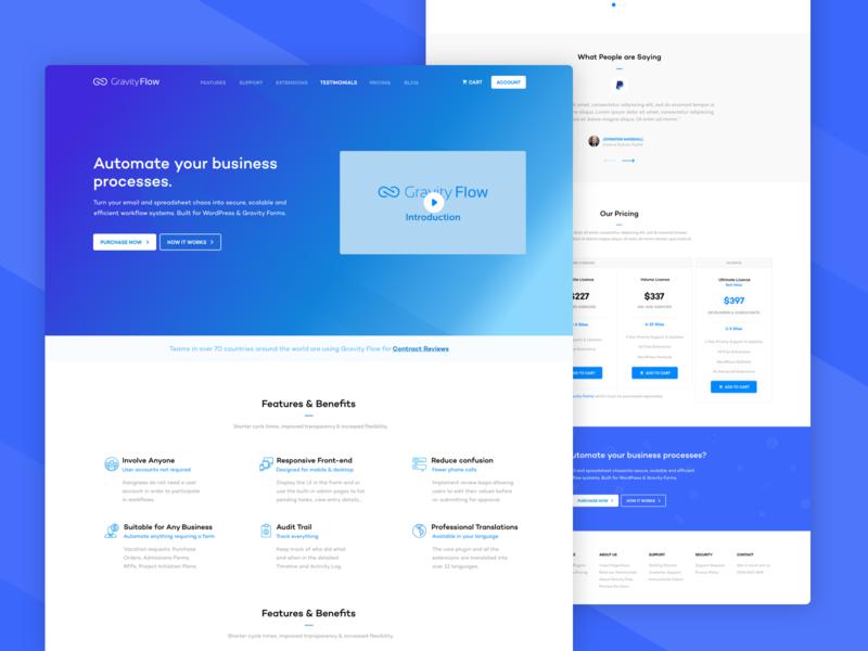 GravityFlow - Website Design Overview