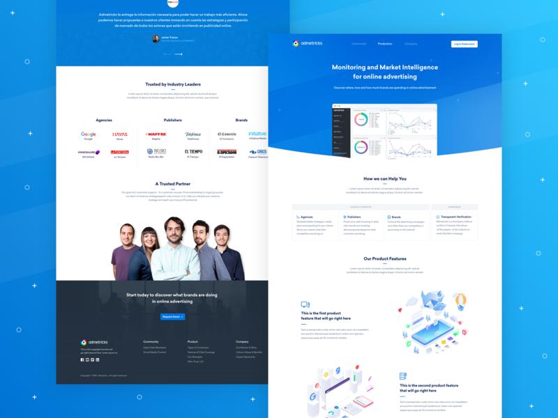 Admetricks - Homepage Design Overview