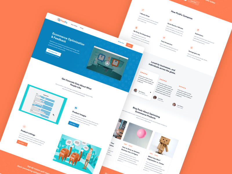PickFu - Landing Page Design