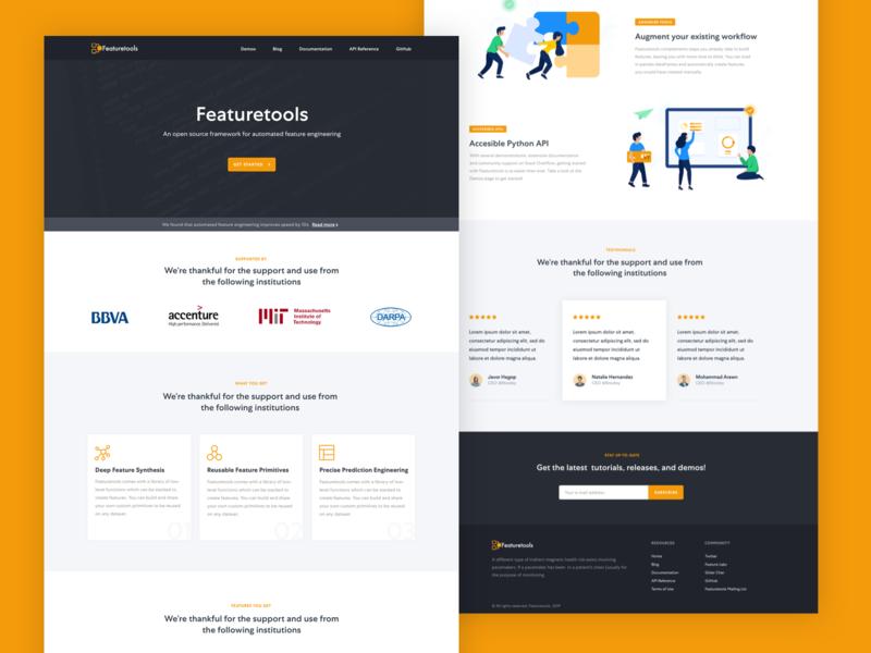 FeatureTools - Website Overview