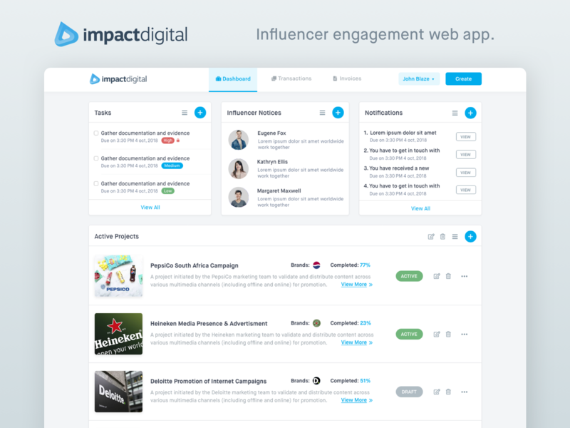 ImpactDigital - Influencer Engagement Application