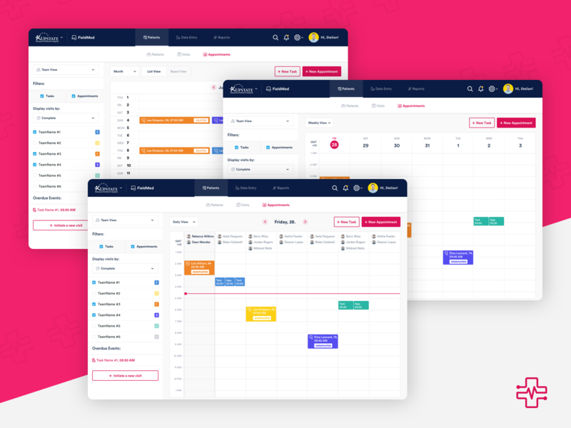 FieldMed - Appointment Screens