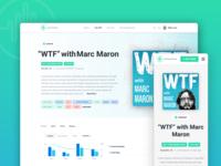 Backtracks - Podcast Analytics application web design ui design dashboard blue user interface ux design layout clean ui